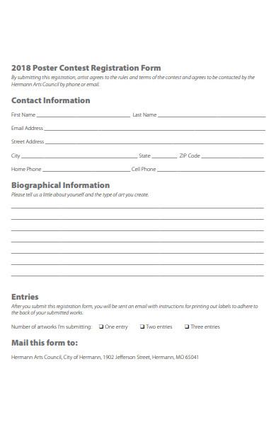 poster contest registration form