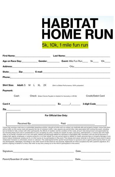 10k race registration form