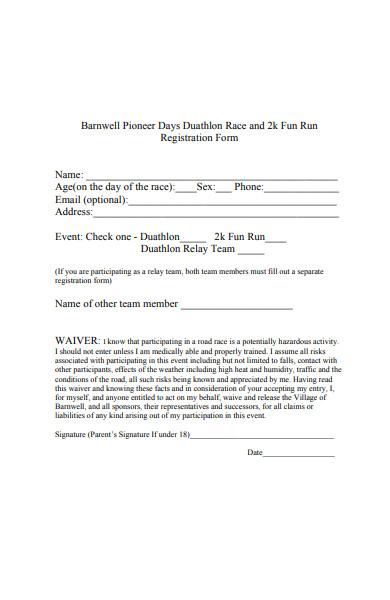 2k race registration form