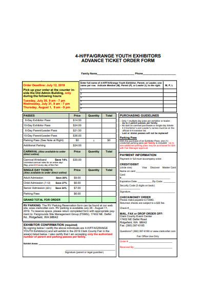 advance ticket order form in pdf