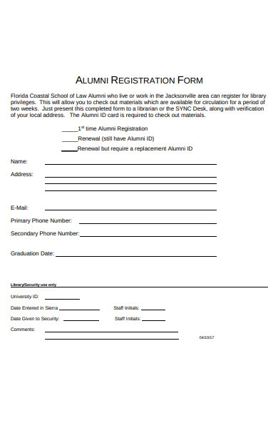 alumni technology centre registration form