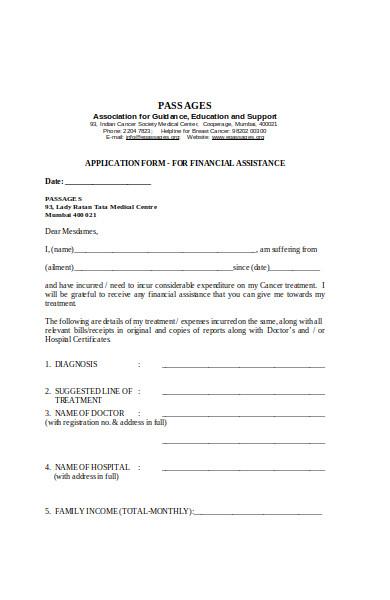 basic medical application form