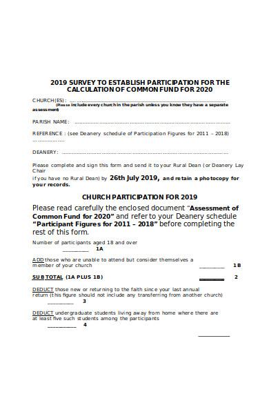 basic participation form