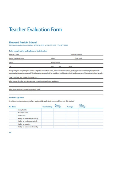 basic teacher evaluation form1
