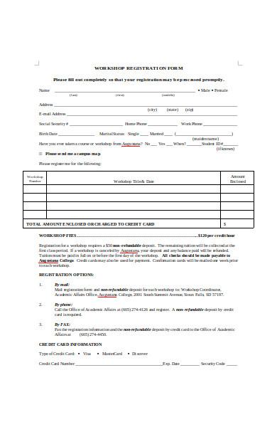 basic workshop registration form1