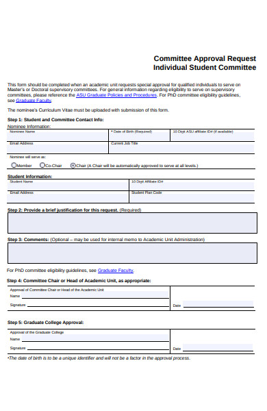 committee approval request form