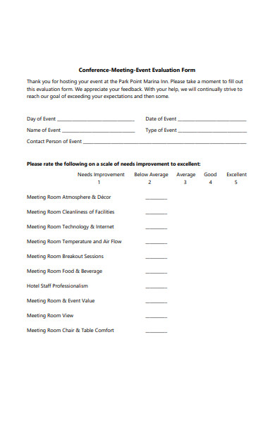 conference meeting feedback form