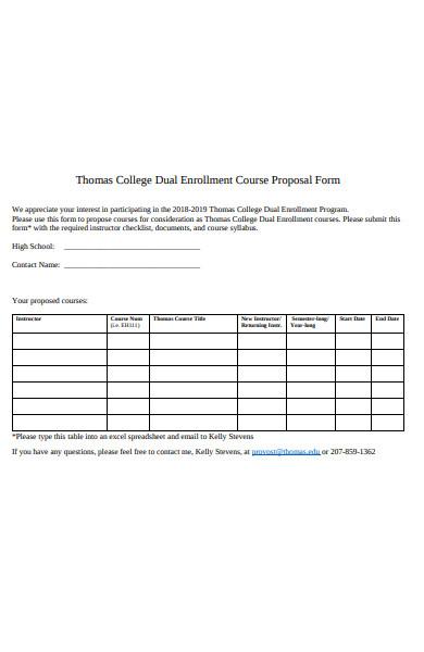 dual enrollment course proposal form