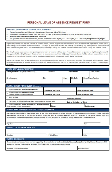 employee annual leave request form