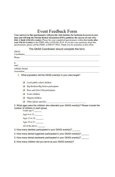 event feedback form in pdf