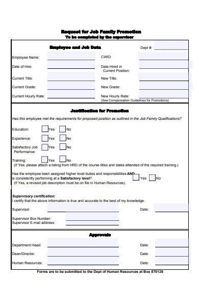 family promotion forms