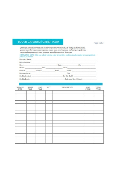 food and beverage approval form