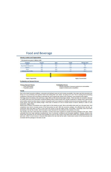 food and beverage order form in pdf