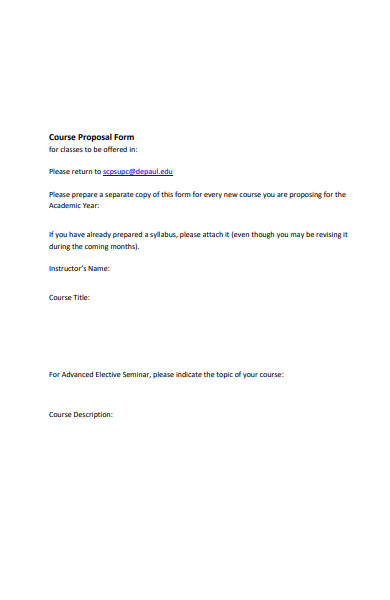 formal course proposal form