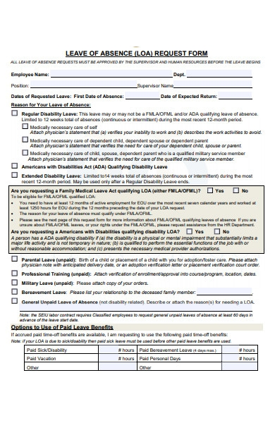 formal employee leave request form1