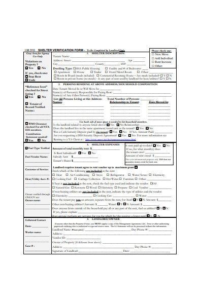 formal landlord approval form