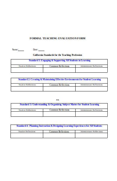 formal teacher evaluation form1