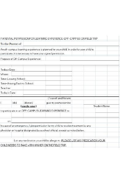 general field trip permission form1