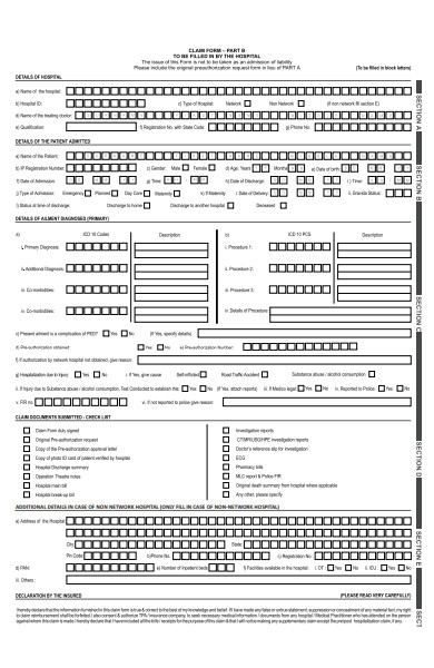 general insurance form