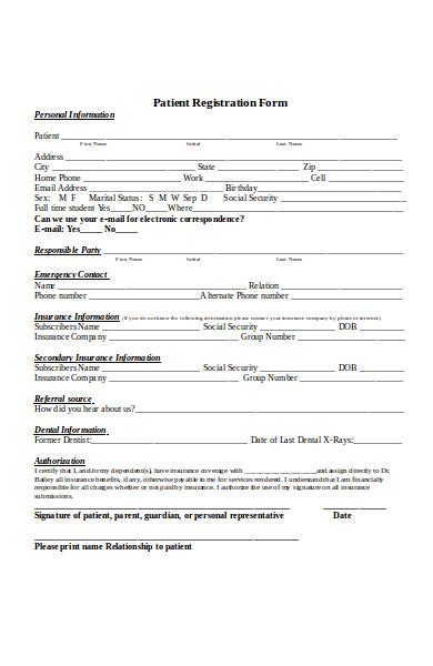 general patient registration form