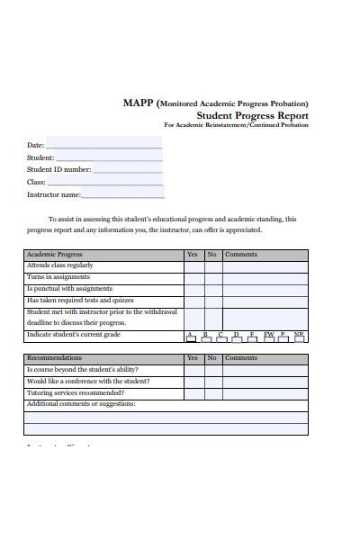 graduate student progress report form
