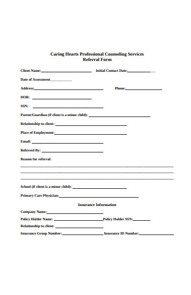 hearts professional counseling referral form
