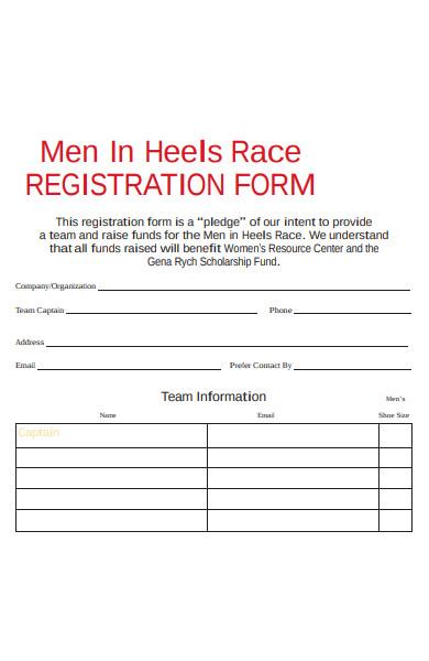 heels race registration form