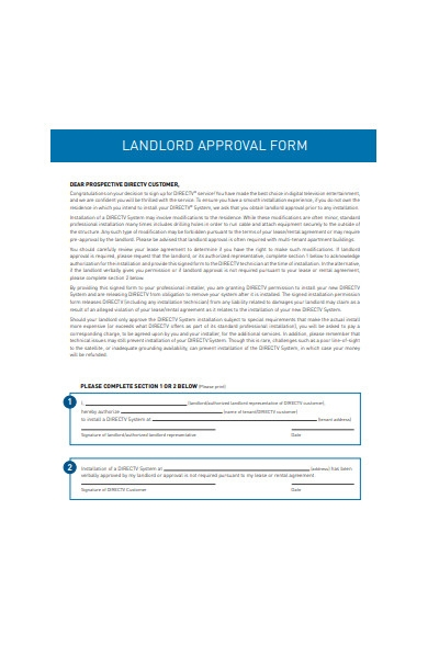 landlord approval form