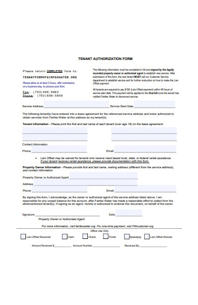landlord authorization form