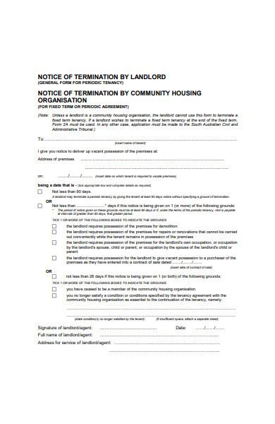 landlord notice form