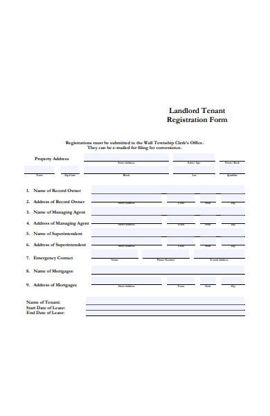 landlord tenant registration form