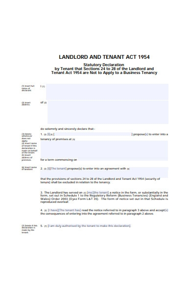 landlord and tenant form