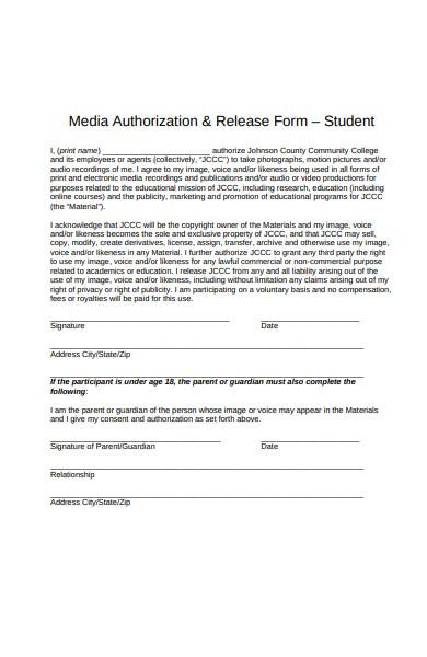 media authorization release form