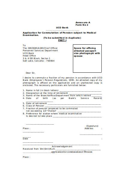 medical examination application form