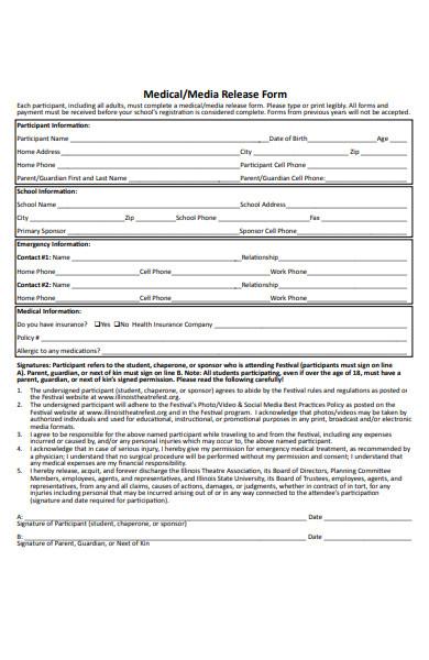 medical media release form