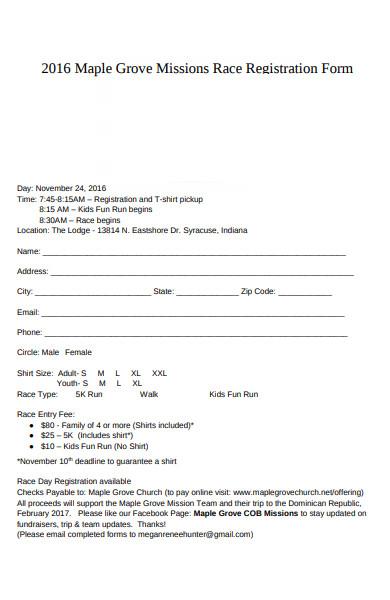 missions race registration form