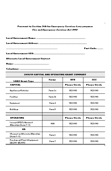 new grant application form