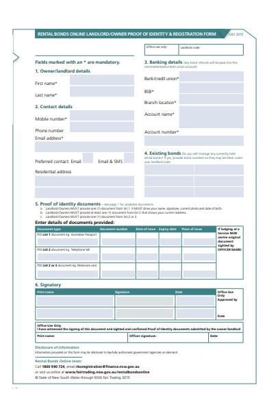 online landlord form