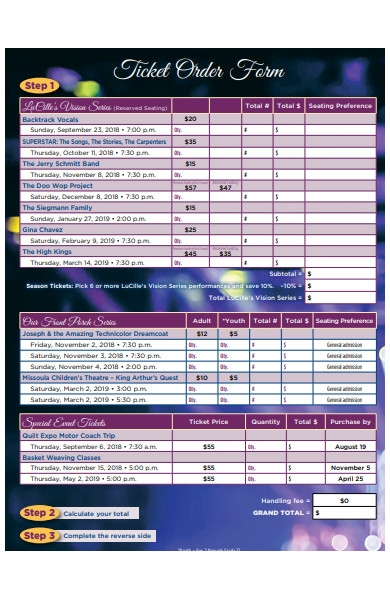 order tickets online form