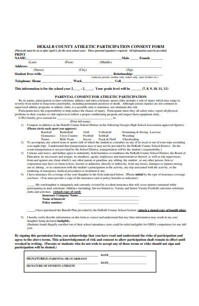 participation consent form