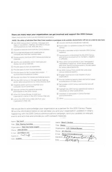 partnership activity agreement form