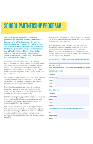 partnership program agreement form