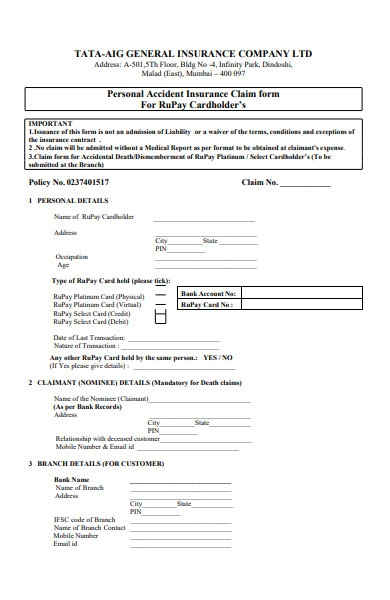 FREE 25+ Insurance Forms in PDF | MS Word