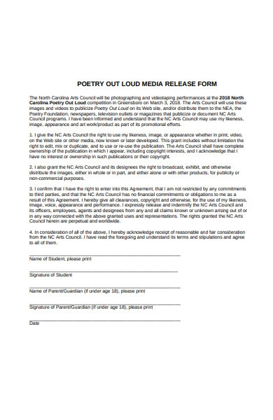 poetry out media release form