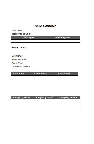 printable cake order form