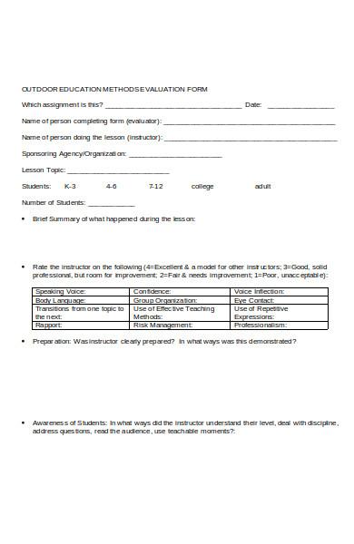 professional teacher evaluation form1