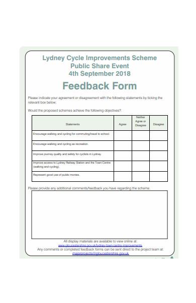 public event feedback form