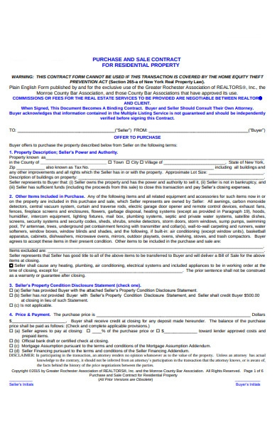 purchase contract form