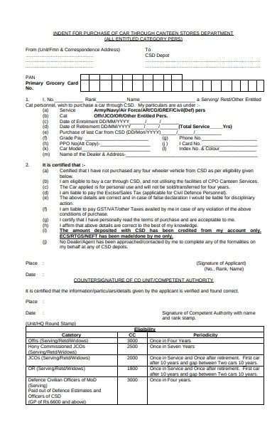 purchase indent form
