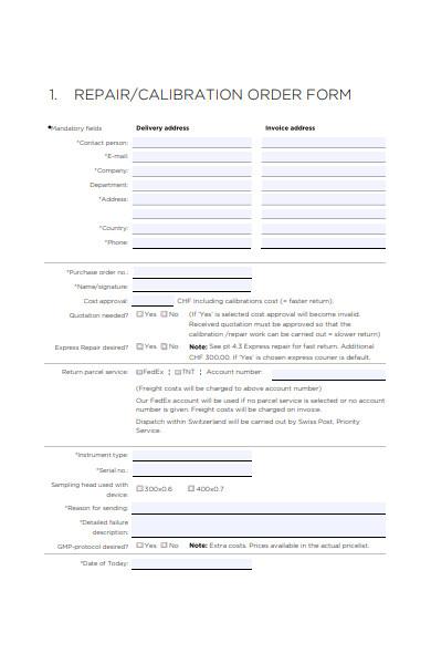 repair work order form in pdf